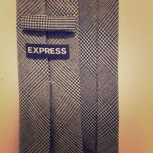 Express Grey Plaid Tie